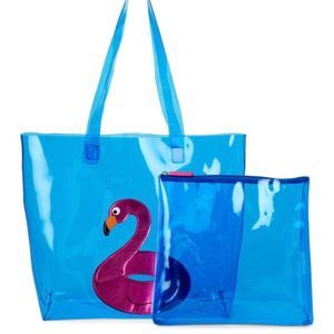 Betsey Johnson Flamingo Float In A Tote